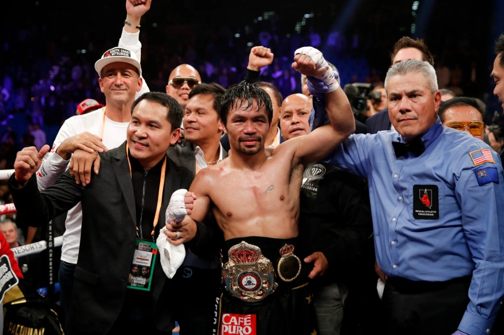 Image result for manny pacquiao vs adrien broner fight images