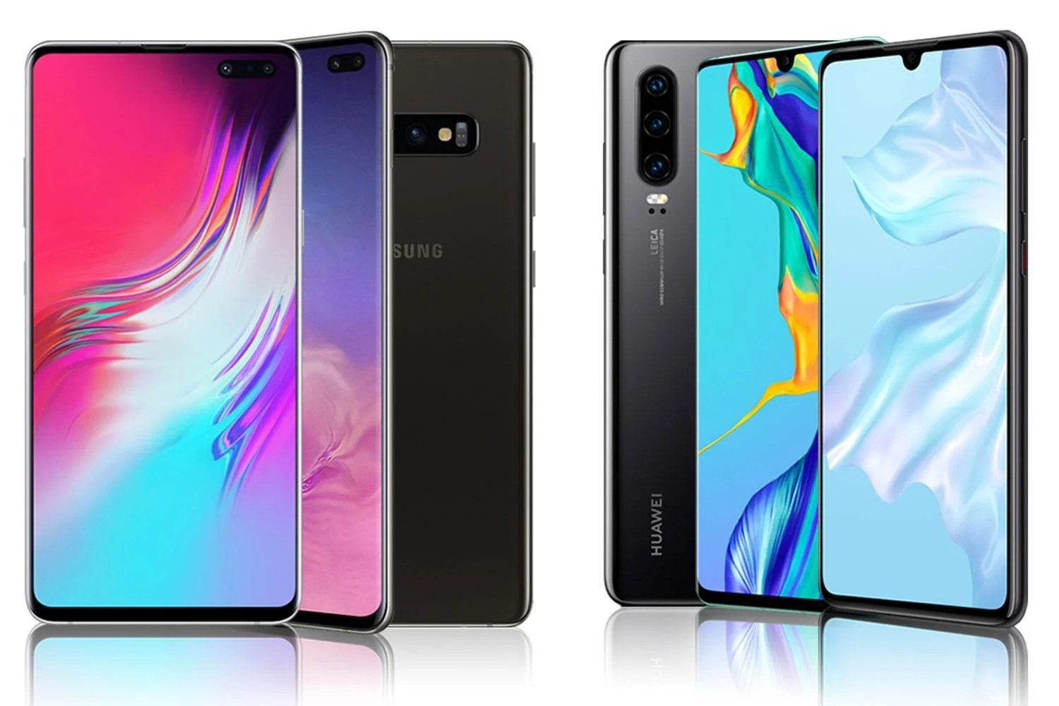 Huawei P30 And Samsung Galaxy S10 Compared Specs Design