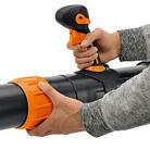 Adjustable blowing tube