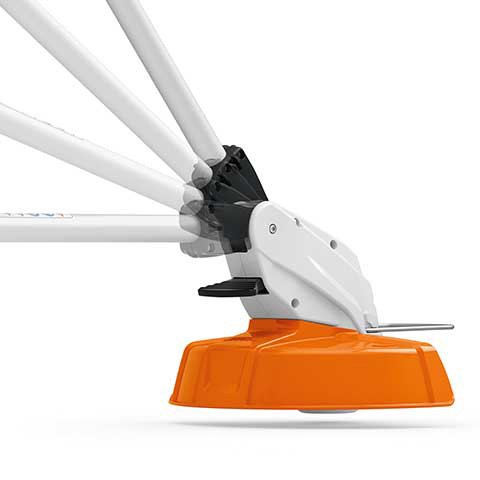 Adjustable mowing head