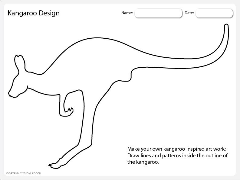 Kangaroo Art Design 1 Worksheet