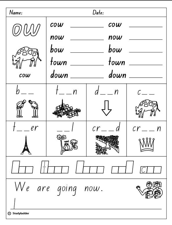 Vowel Digraph Ow