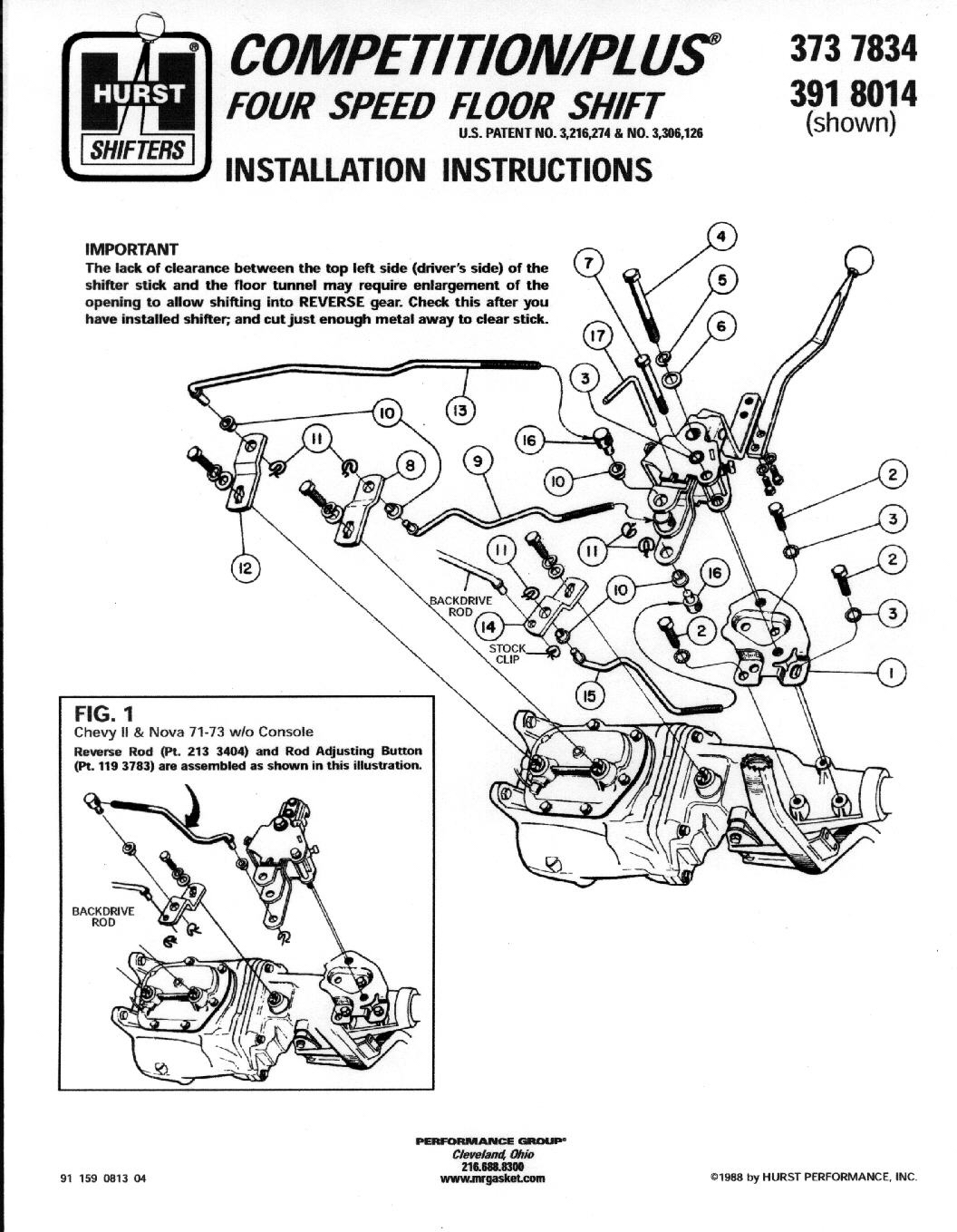Ford Hurst Shifter Diagram