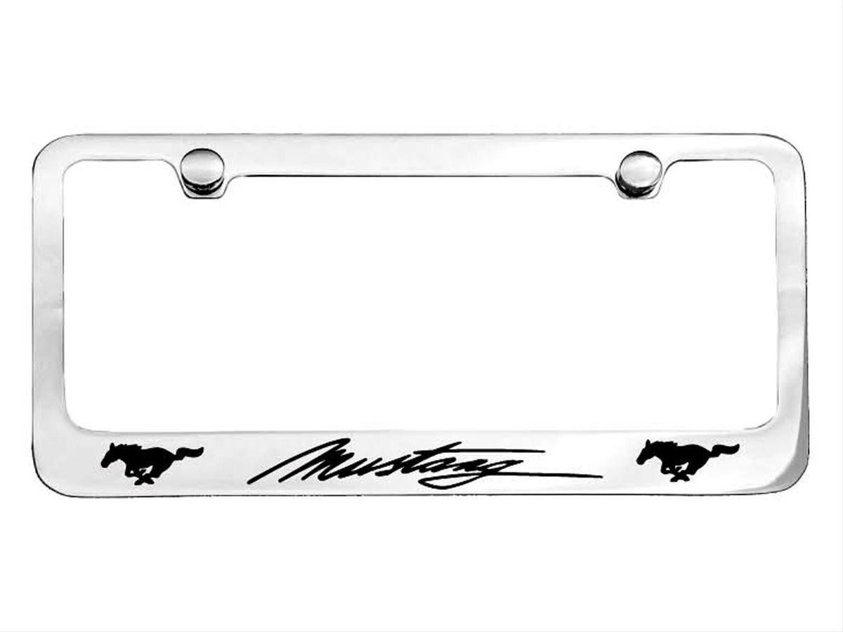 Scott Drake License Plate Frame Brass Chrome Mustang