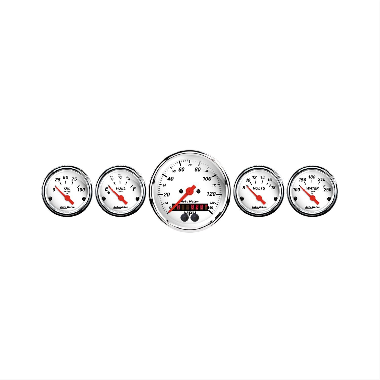 Auto Meter Arctic Whiteog Gauge Kit