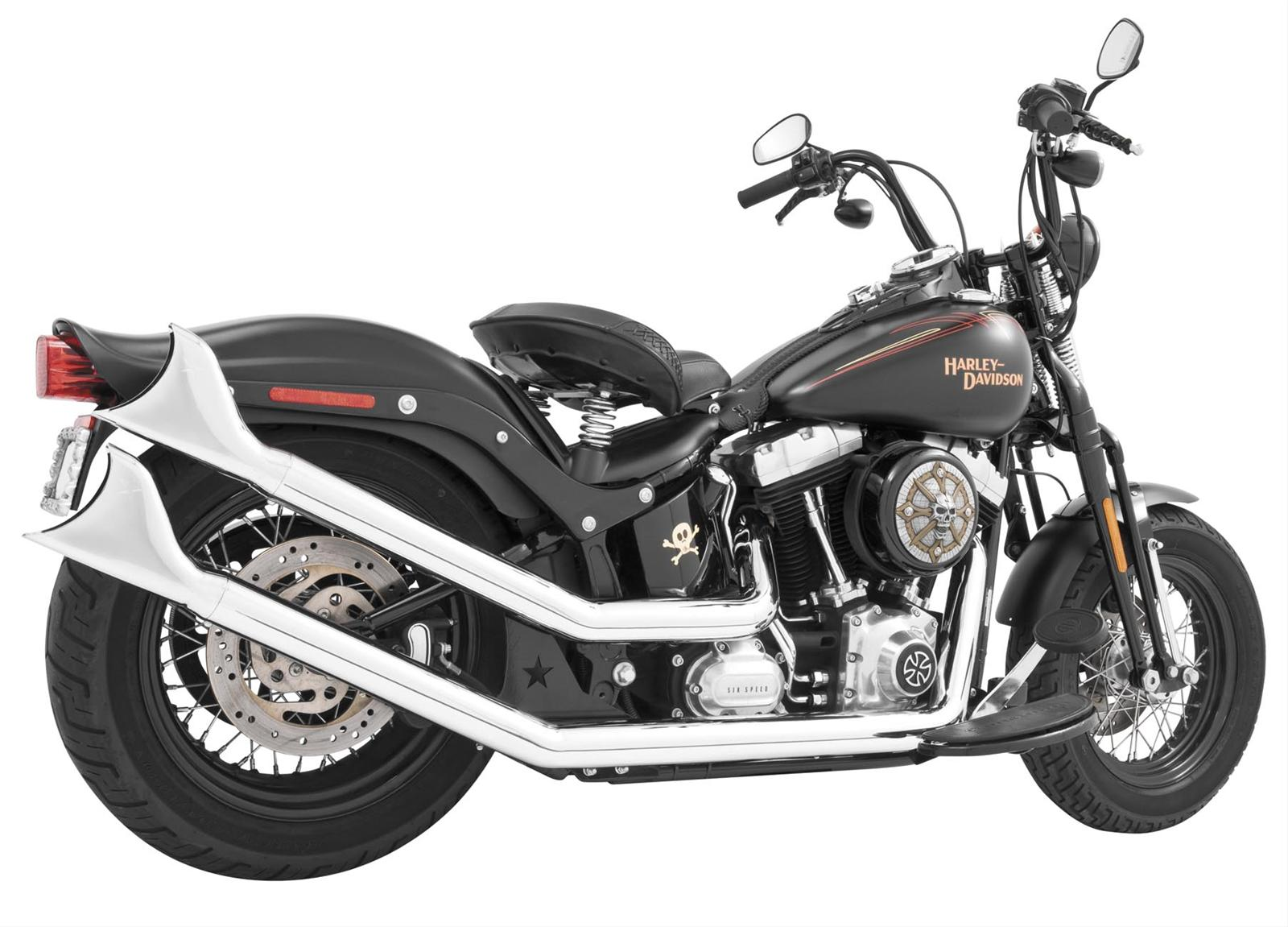 freedom performance exhaust hd00264 freedom performance upswept exhaust systems summit racing