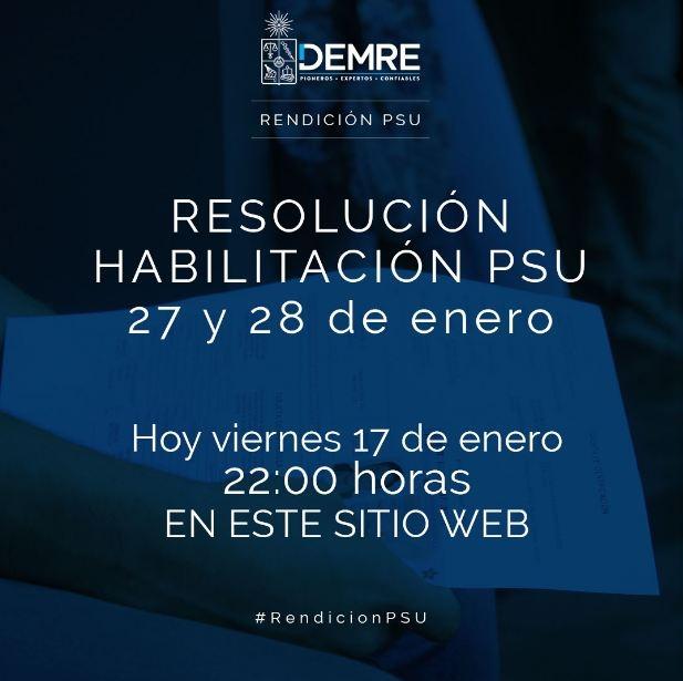 ¿Quiénes deben rendir la PSU el 27 y 28 de enero? Demre habilitará sitio de consulta