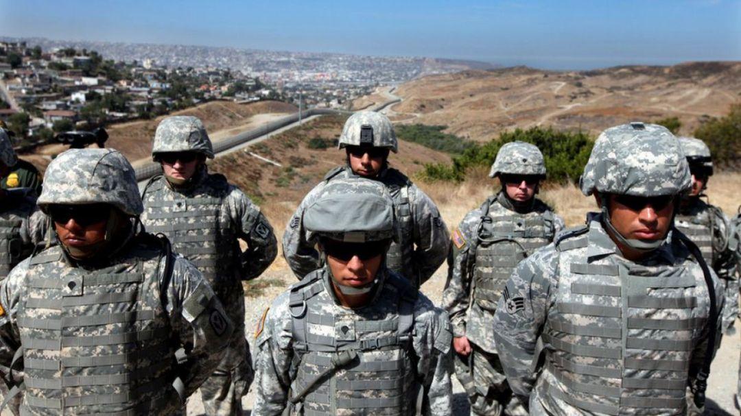 Resultado de imagen para Fuerzas Armadas de EU Trump frontera