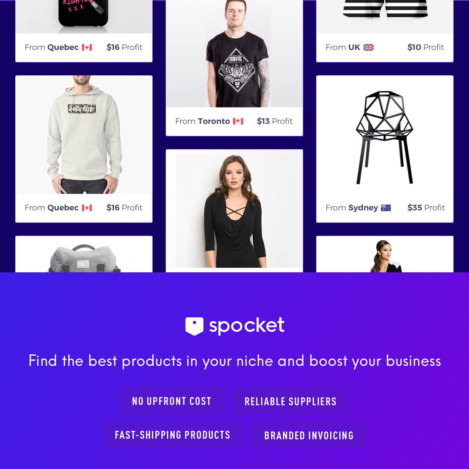 Spocket niche drop shipping