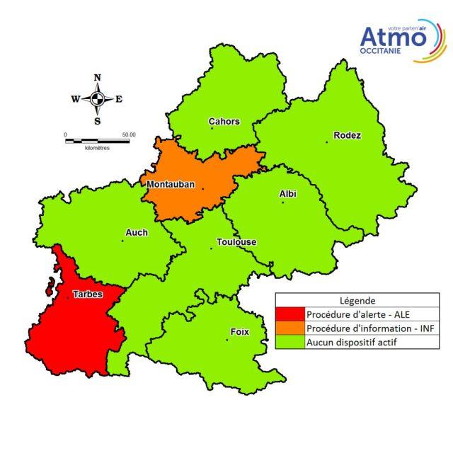 Pollution air Tarbes Montauban