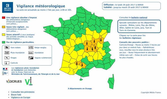 Fortes Chaleurs, les Hautes Pyrénées en alerte météo vigilance jaune