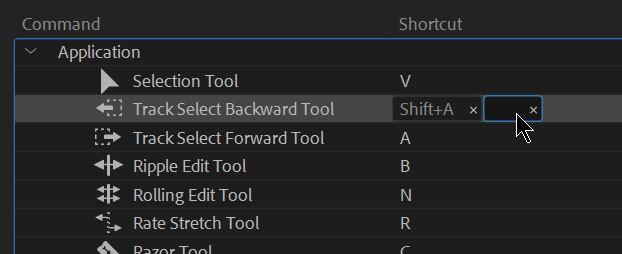 Comenzi rapide în Adobe Premiere Pro