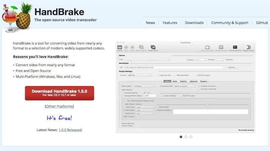 HandBrake Download 1.0.7 (x64) Full Version 2021