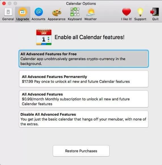 MacOS Calendar