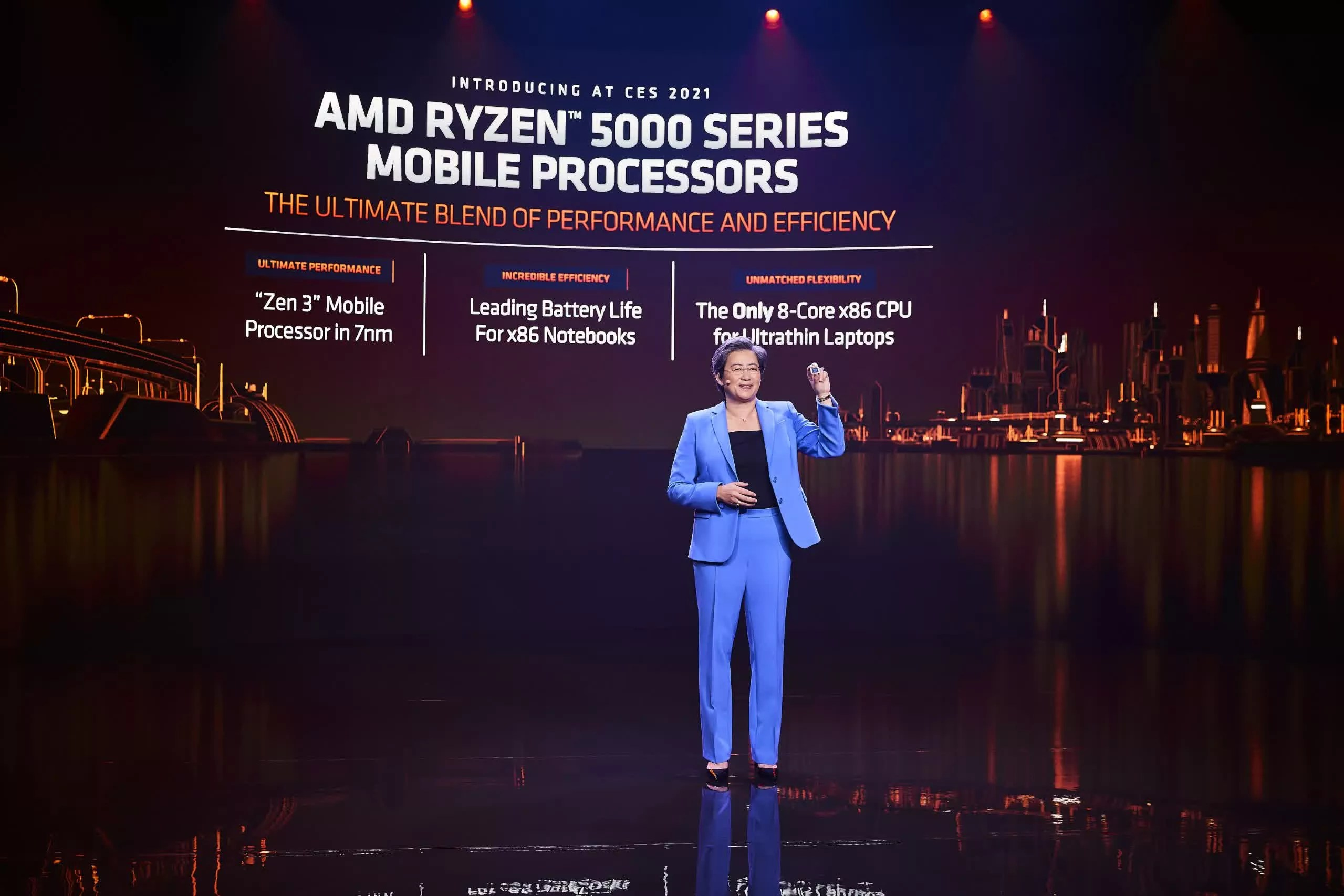 AMD claims fastest mobile CPU title with Ryzen Mobile 5000
