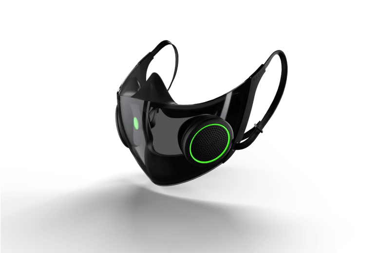 Razer is working on its own N95 respirator with RGB lighting and a clear plastic faceplate