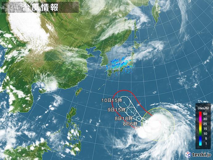 台風情報・日本広域(2019年10月07日18時現在)