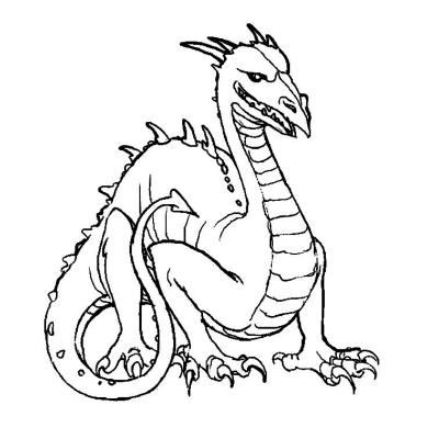 Coloriage Dragon Coloriage Dragon Imaginaires Sur Tete A Modeler