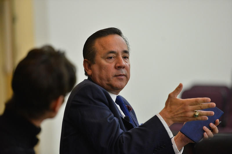 State Senator Carlos Uresti, D-San Antonio, at a Texas Tribune legislative preview on Dec. 2, 2016. Uresti's San Antonio office was raided by the FBI on Feb. 16, 2017.