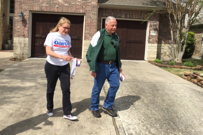 State Sen. Sylvia Garcia and U.S. Rep. Gene Green were knocking on doors in Humble for her congressional campaign on Saturday, March 3, 2018.