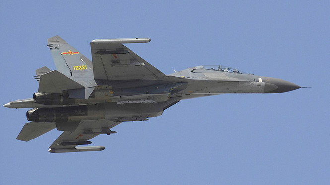 A Chinese J-11 fighter aircraft. Photo credit: US Department of Defense