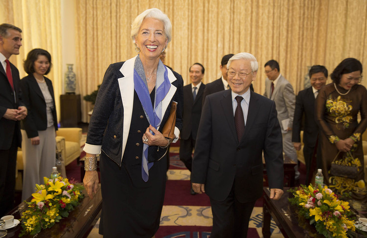 Christine Lagarde in Vietnam on March 18.
