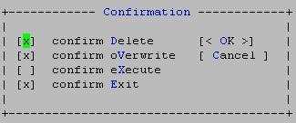 [Fig: File operations confirmation in mc]