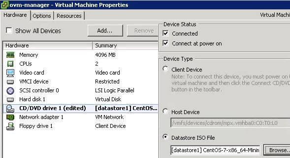 ESXi ISO VM Propriedades Editado