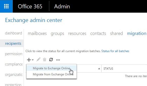 Office 365 Migrate to Exchange Online
