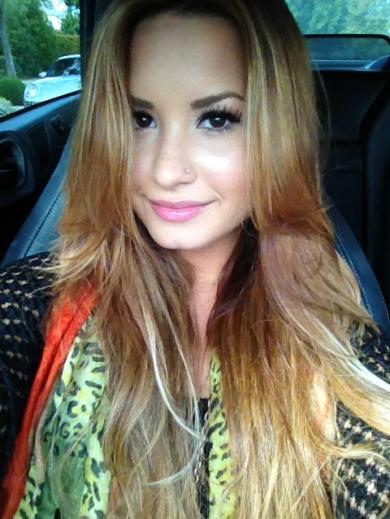 Demi Lovato as a Blonde