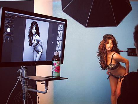 Kim Kardashian Lingerie Photo