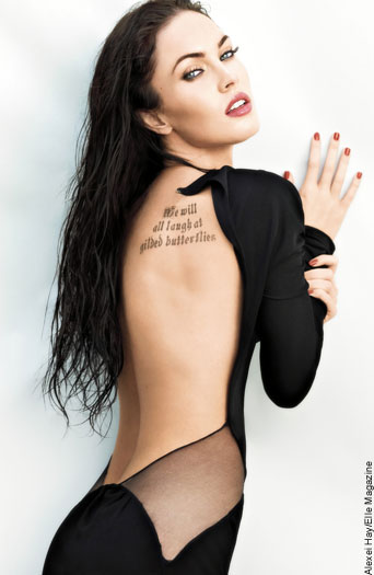 Ever wondered what Megan Fox's tattoo read? Take a close look at the actress