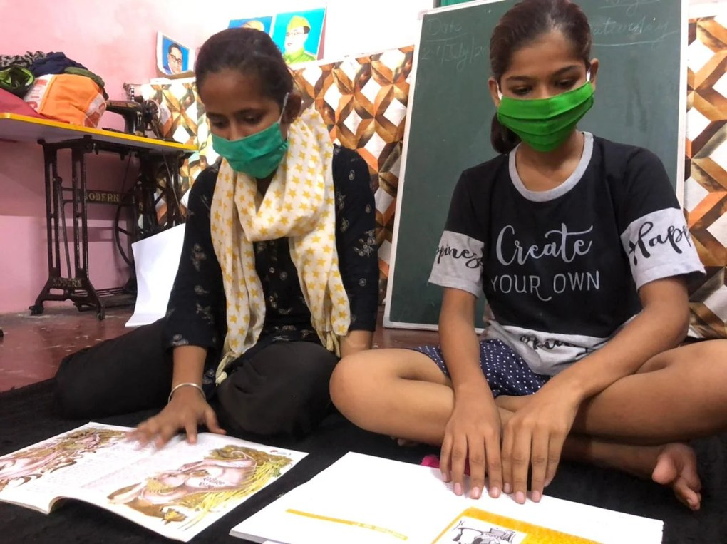 Students at the centres are also offered tailoring training to incentivise participation   Jyoti Yadav   ThePrint