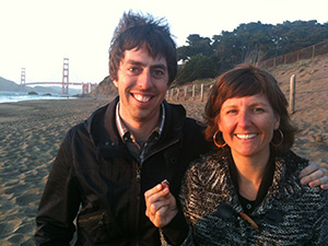 Liam and Sarah with the lost ring