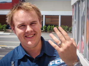Caleb reunited with his ring