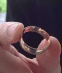 Dave's ring given to him by his grandfather