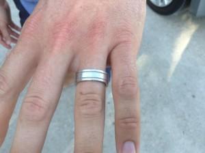 Platinum wedding band back on finger where it belongs!