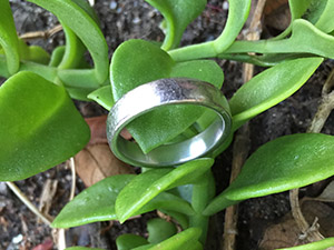 Lost platinum ring found with metal detector in Redwood City