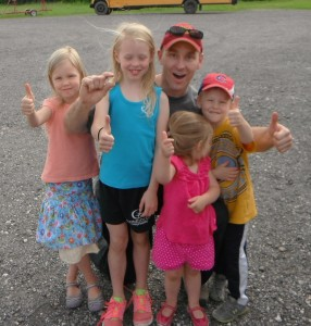 Guy and kids