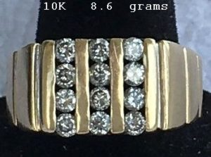 10K Gold 12 Diamonds 8.6 grams