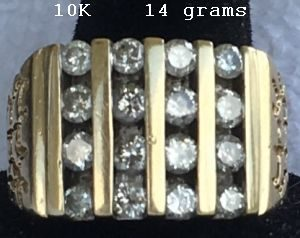 10K Gold 16 Diamonds 14 grams