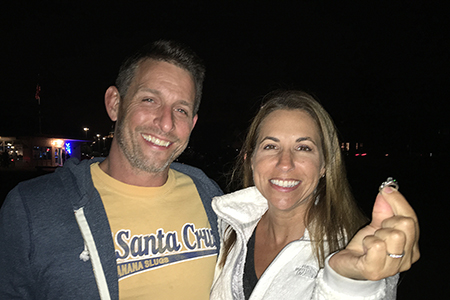 Tami and Matt and the lost engagement ring found in Santa Cruz