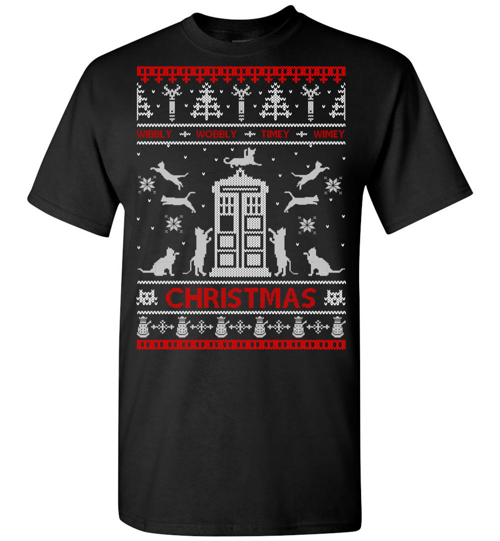 Doctor Who Cat Ugly Christmas Sweater The Wholesale T Shirts