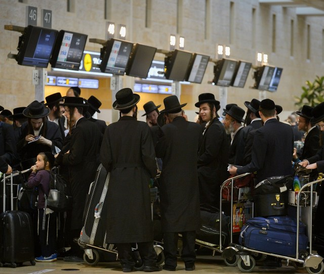 Ultra Orthodox Jewish Men Traveling To Uman In The Ukraine For Rosh Hashanah Seen