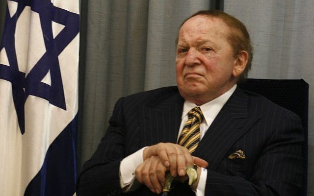 US billionaire businessman Sheldon Adelson. (Flash90/File)
