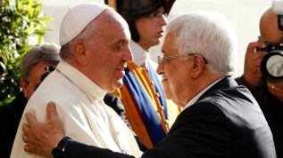 Image result for pope francis and abbas