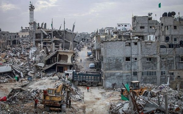 Eastern Gaza City, six months after 2014's Operation Protective Edge (Aaed Tayeh/ Flash90)