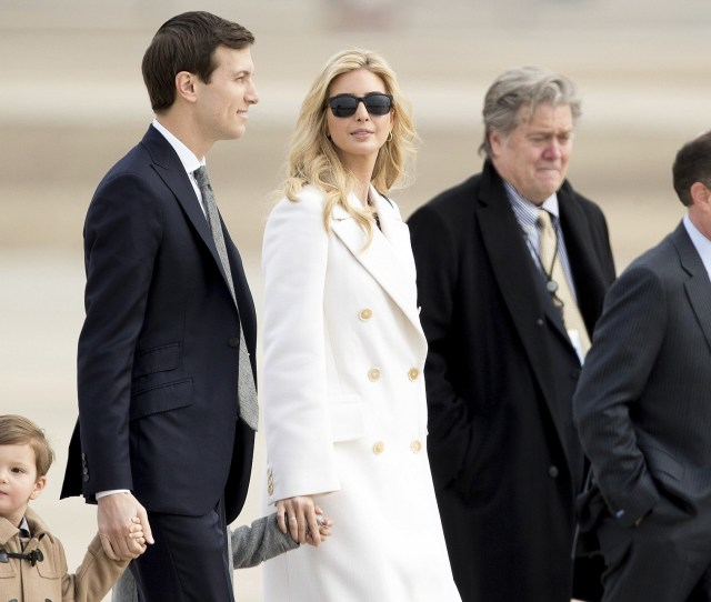 Ivanka Trump Daughter Of President Donald Trump Her Husband Senior Adviser Jared Kushner
