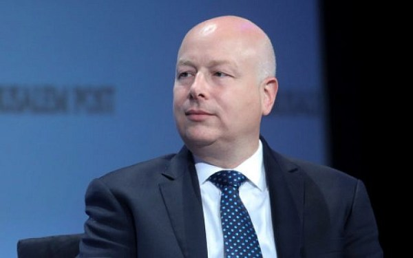 US Special Envoy Jason Greenblatt speaks at a conference in New York City, June 16, 2019. (Marc Israel Sellem/POOL)