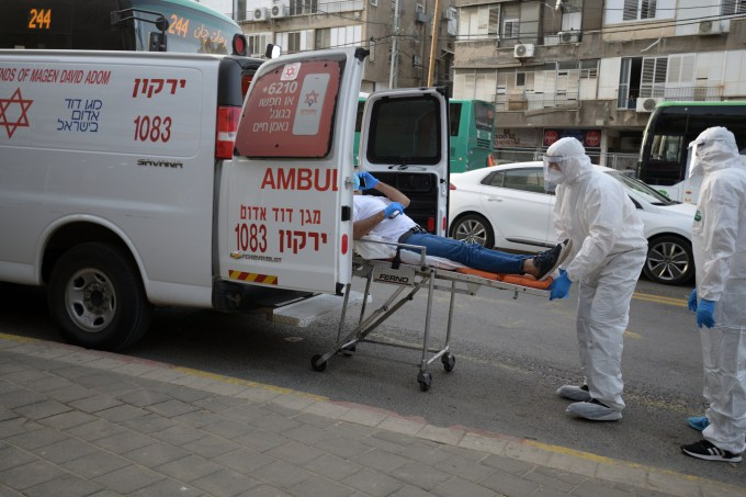 Bnei Brak evacuates 67 virus carriers to stadium, then to ...